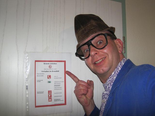 Alleinunterhalter-Comedy-Hausmeister