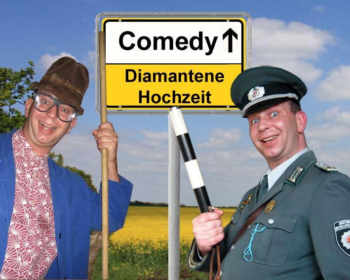 Comedy Alleinunterhalter und Komiker mit Einlagen und Unterhaltung zur Diamantenen Hochzeit