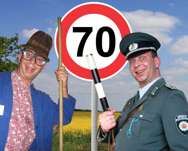 lustige Comedy Show Einlagen zum 70. Geburtstag